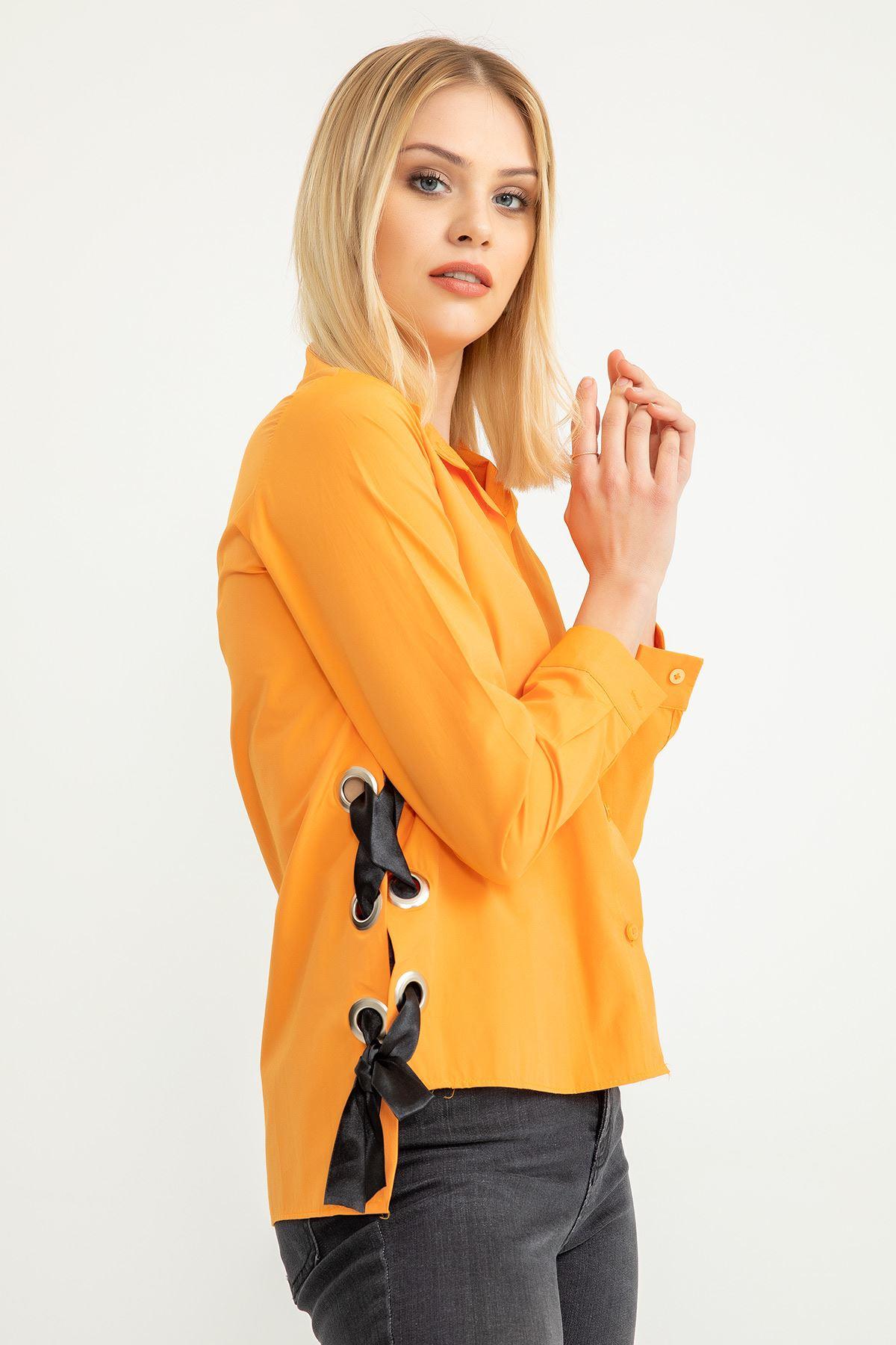 Kurdela Detay Gömlek-Oranj