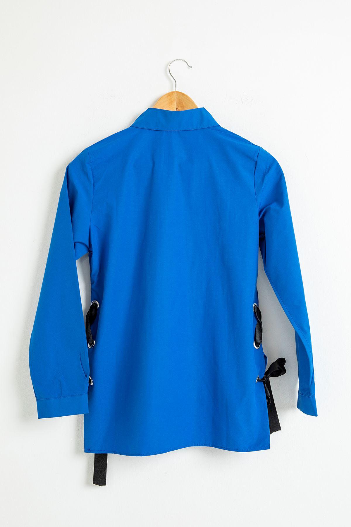 Kurdela Detay Gömlek-Saks