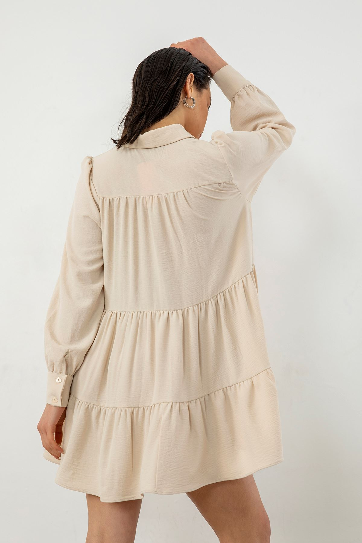 Salaş Elbise-Bej