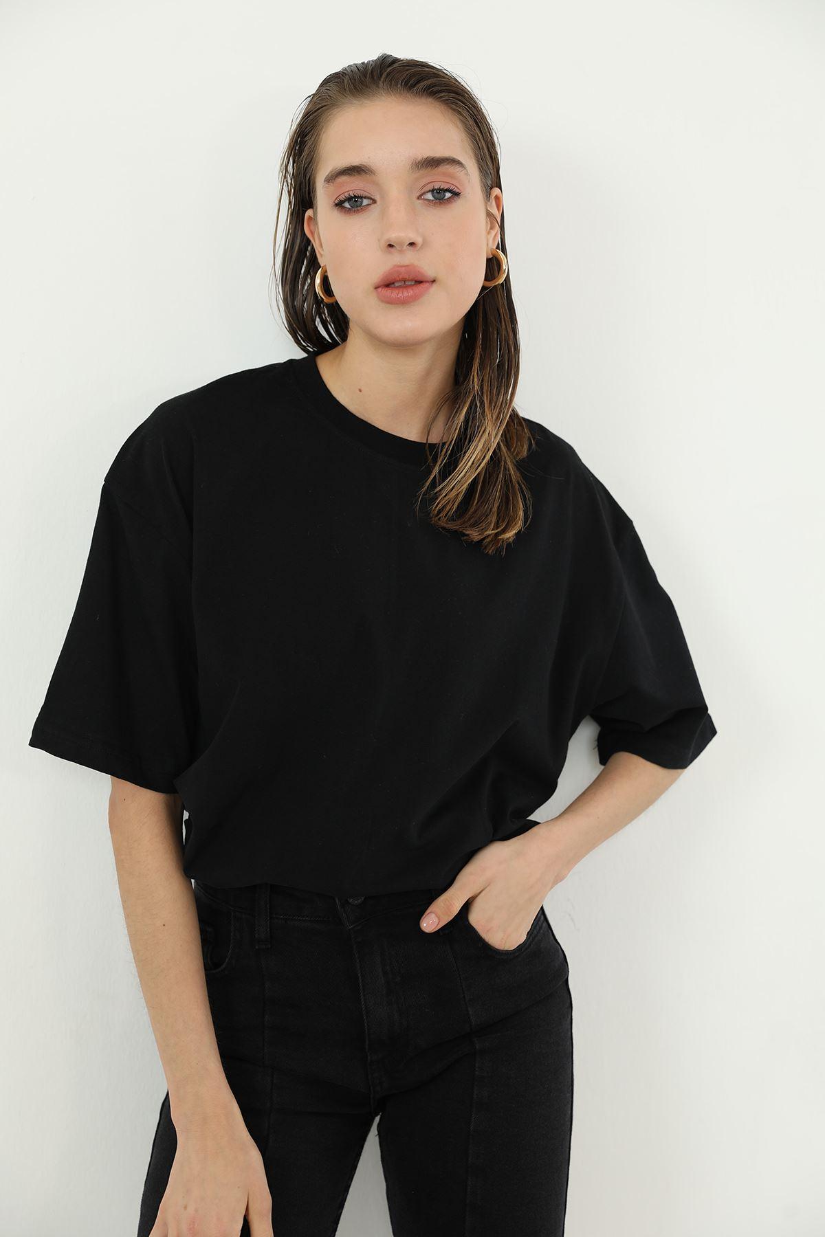 Oversize T-shirt-Siyah