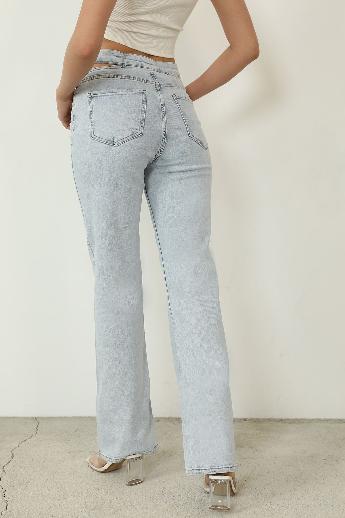 Bel Detay Jean Pantolon-Mavi