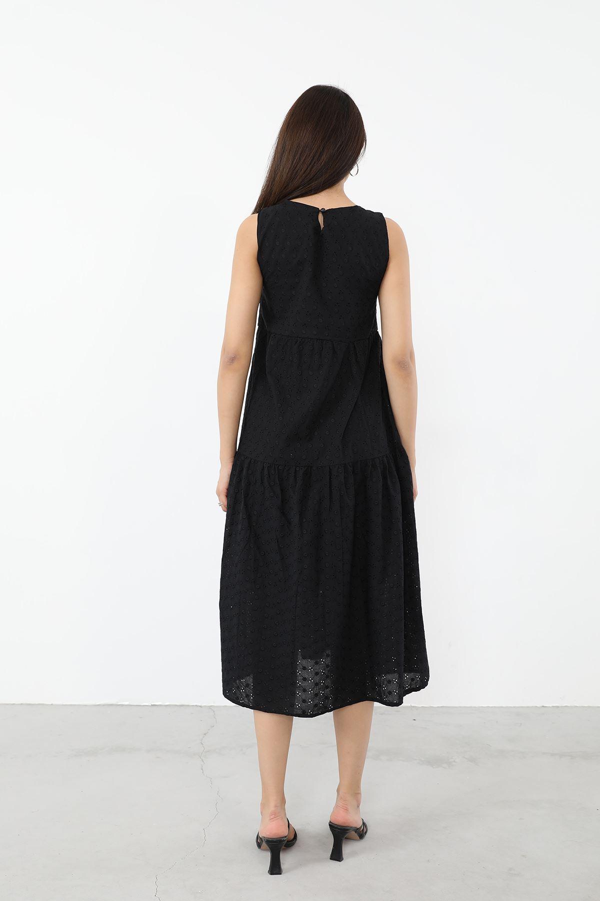 Fisto Elbise-Siyah