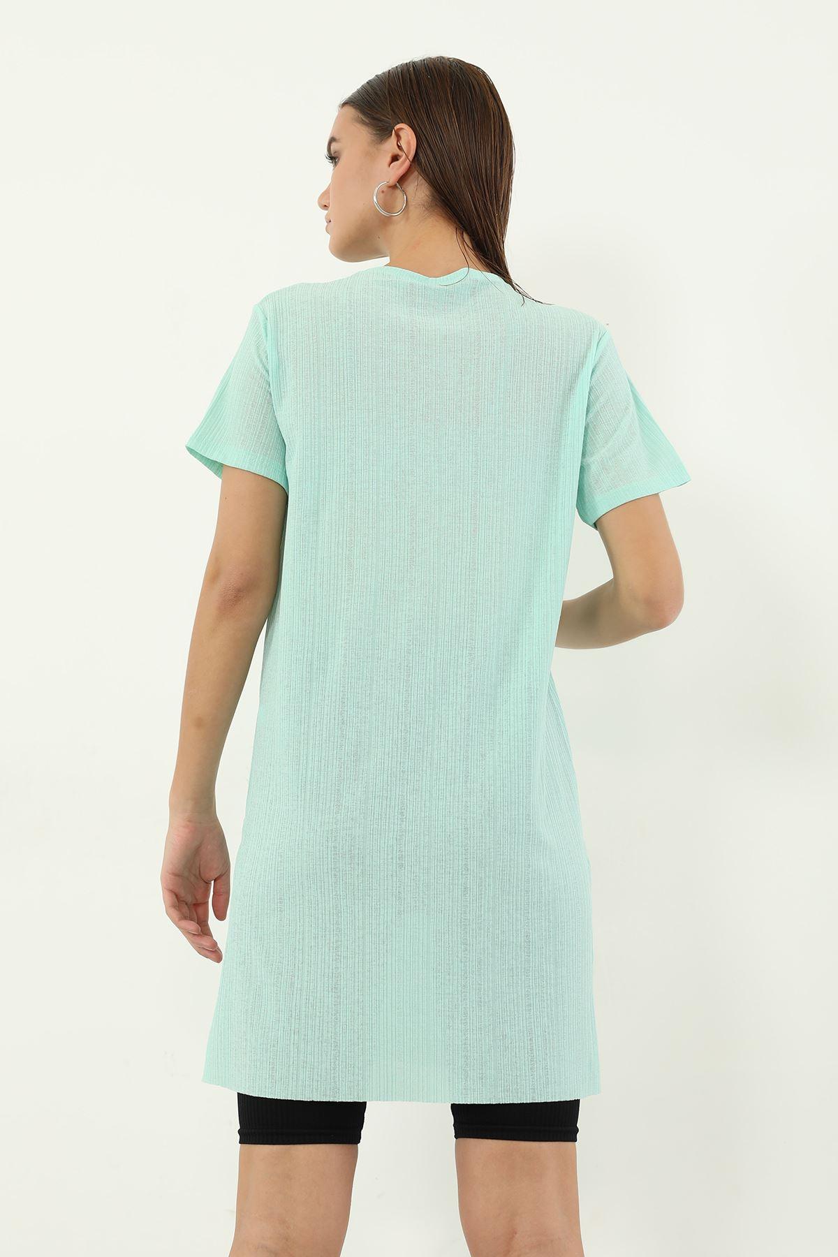Ases Baskılı T-shirt-Mint
