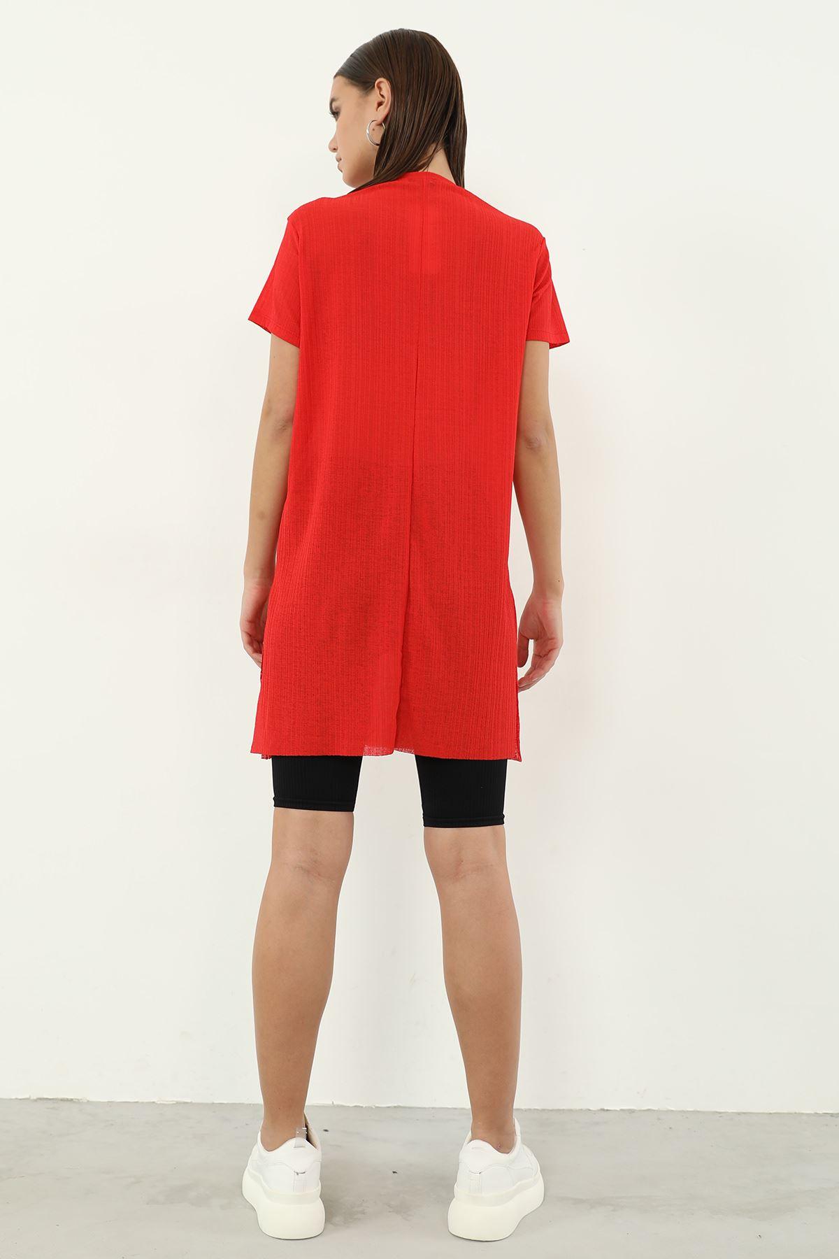Alwarys Be Kind Baskılı T-shirt-Kırmızı