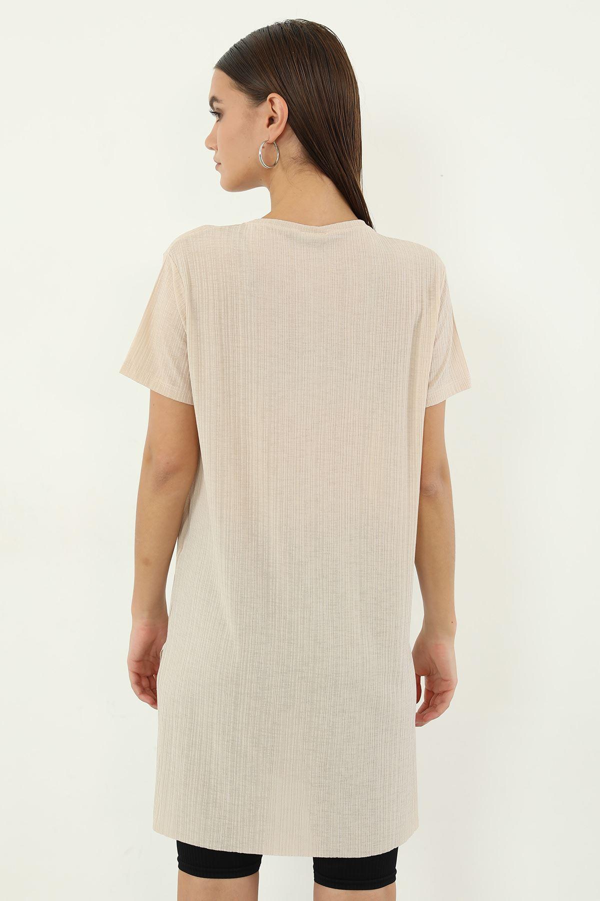 Alwarys Be Kind Baskılı T-shirt-Bej