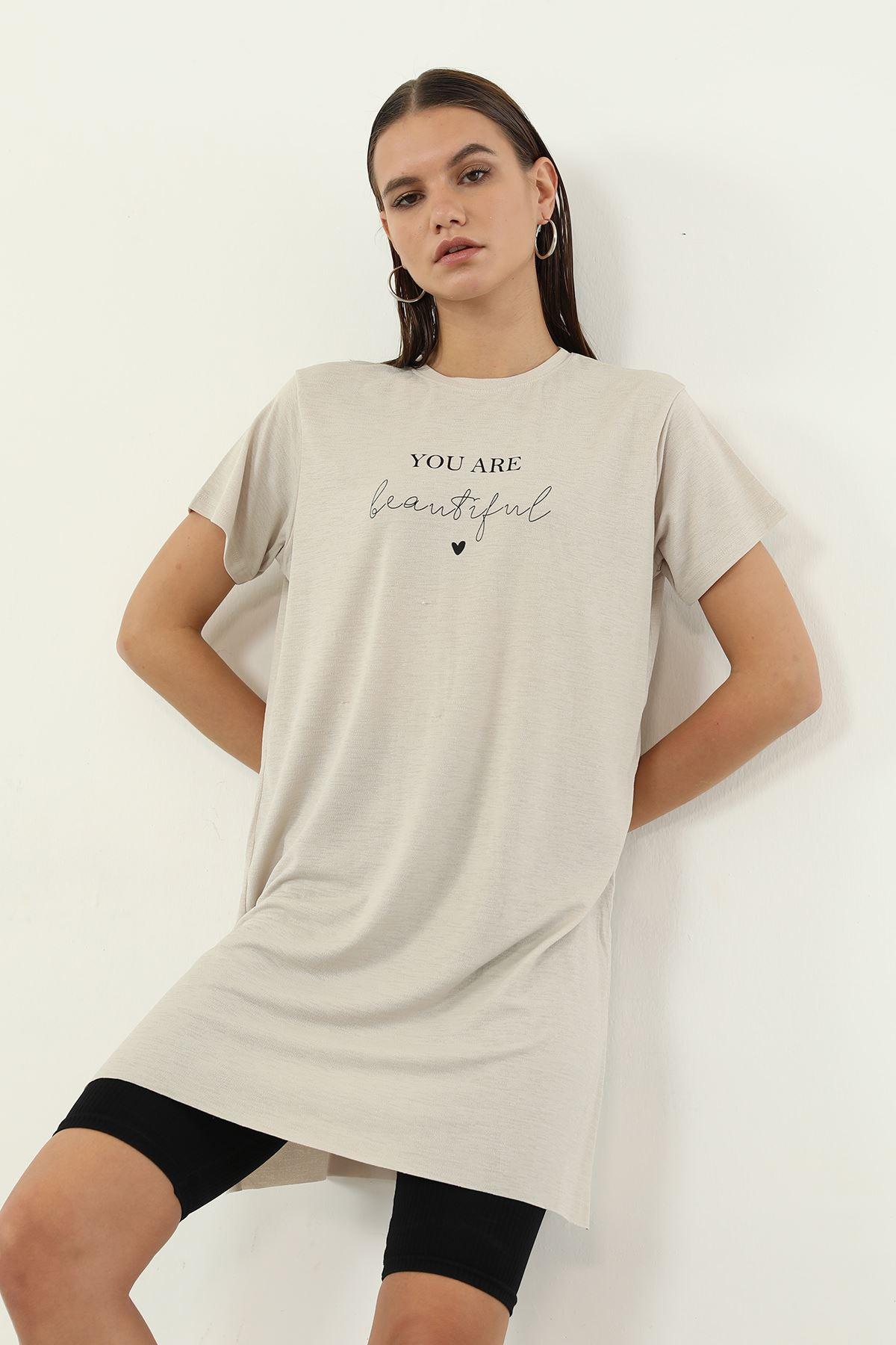 You Are Baskılı T-shirt-Taş