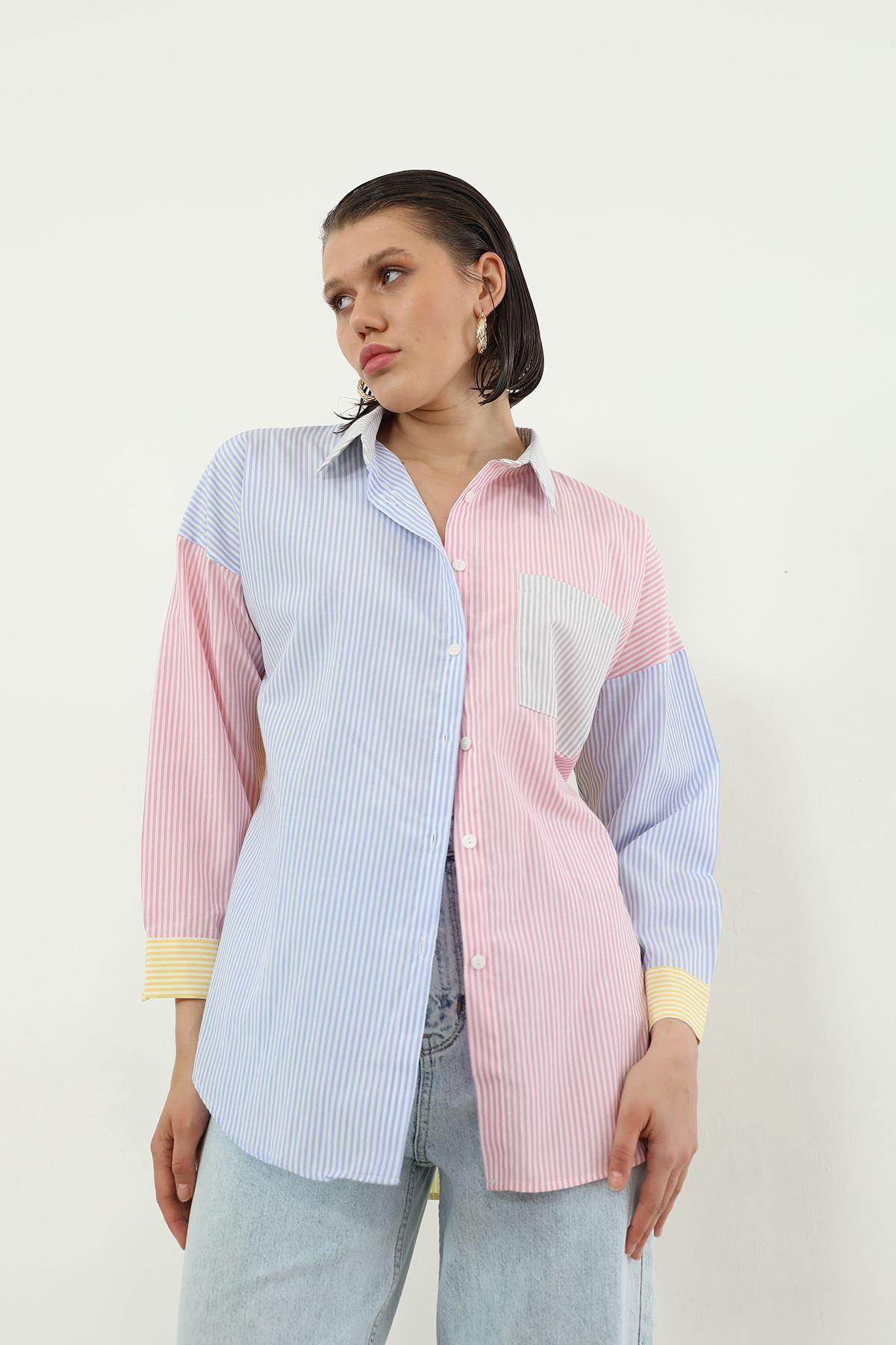 Renkli Gömlek-Renkli