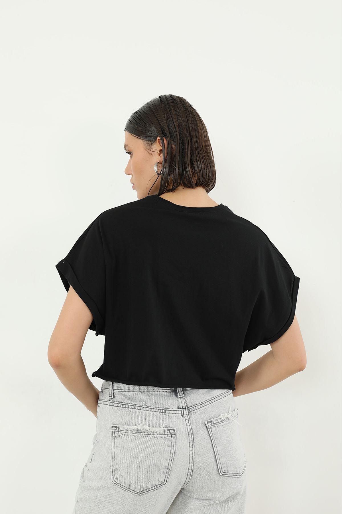 Loud Baskılı T-shirt-Siyah