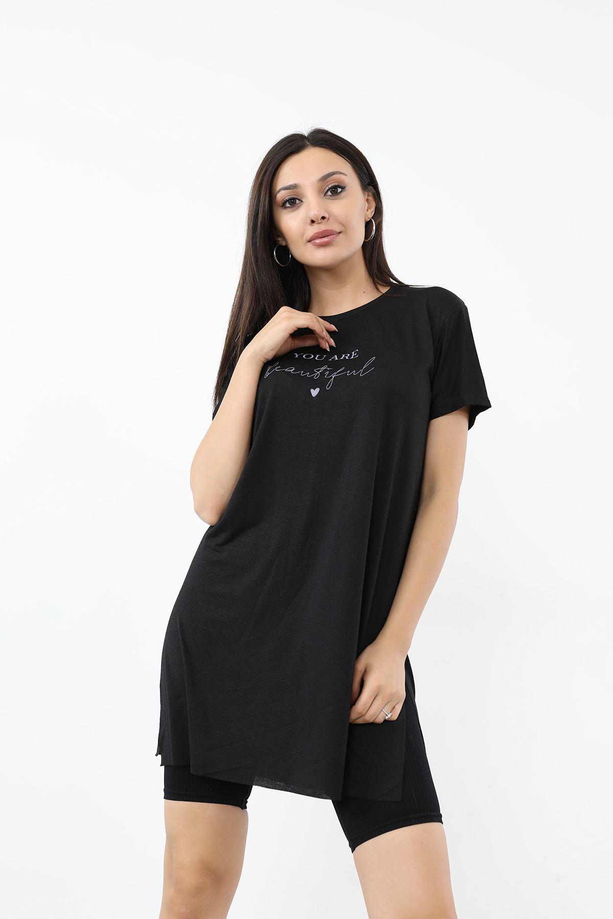 You Are Baskılı T-shirt-Siyah