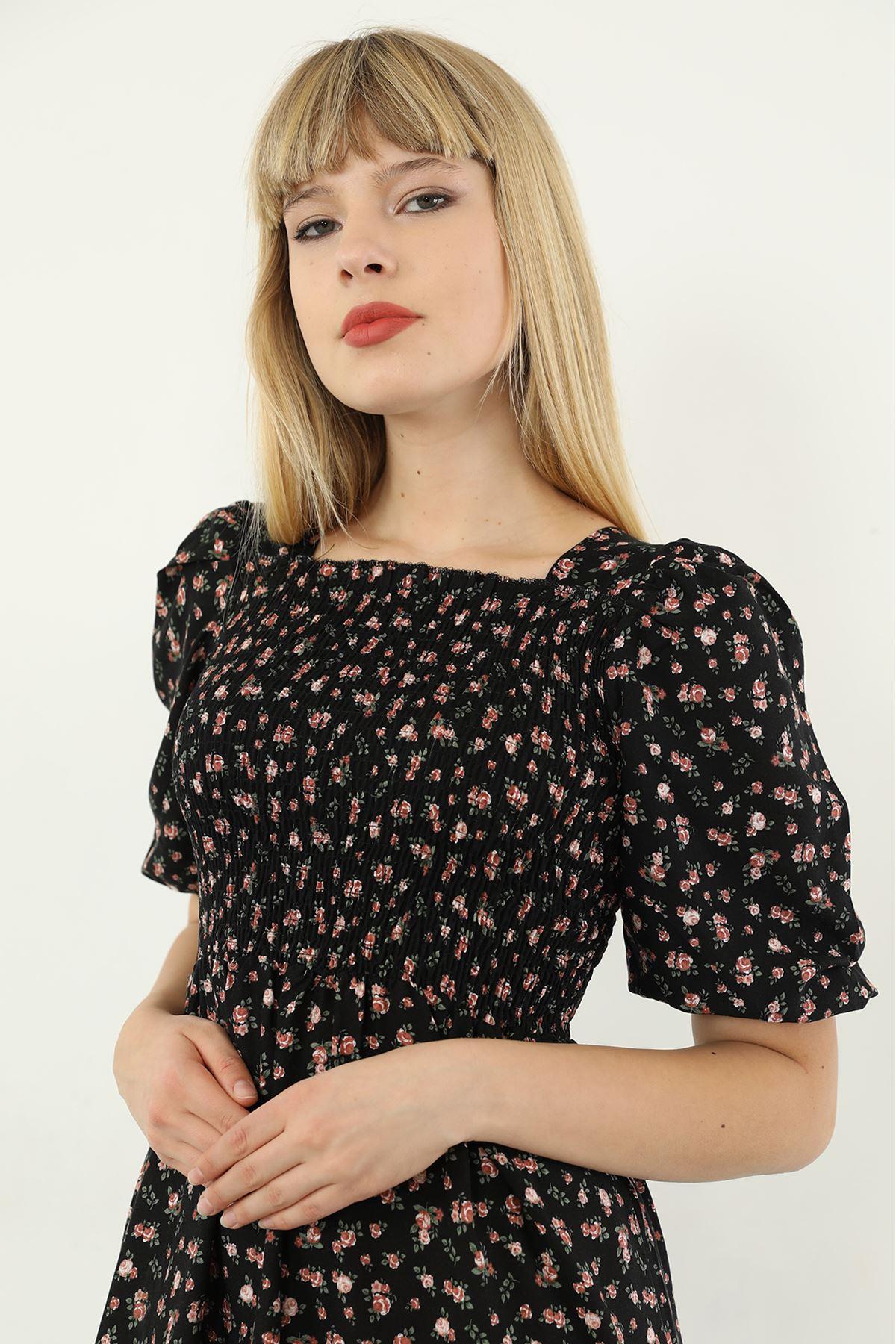 Gipeli Elbise-Siyah
