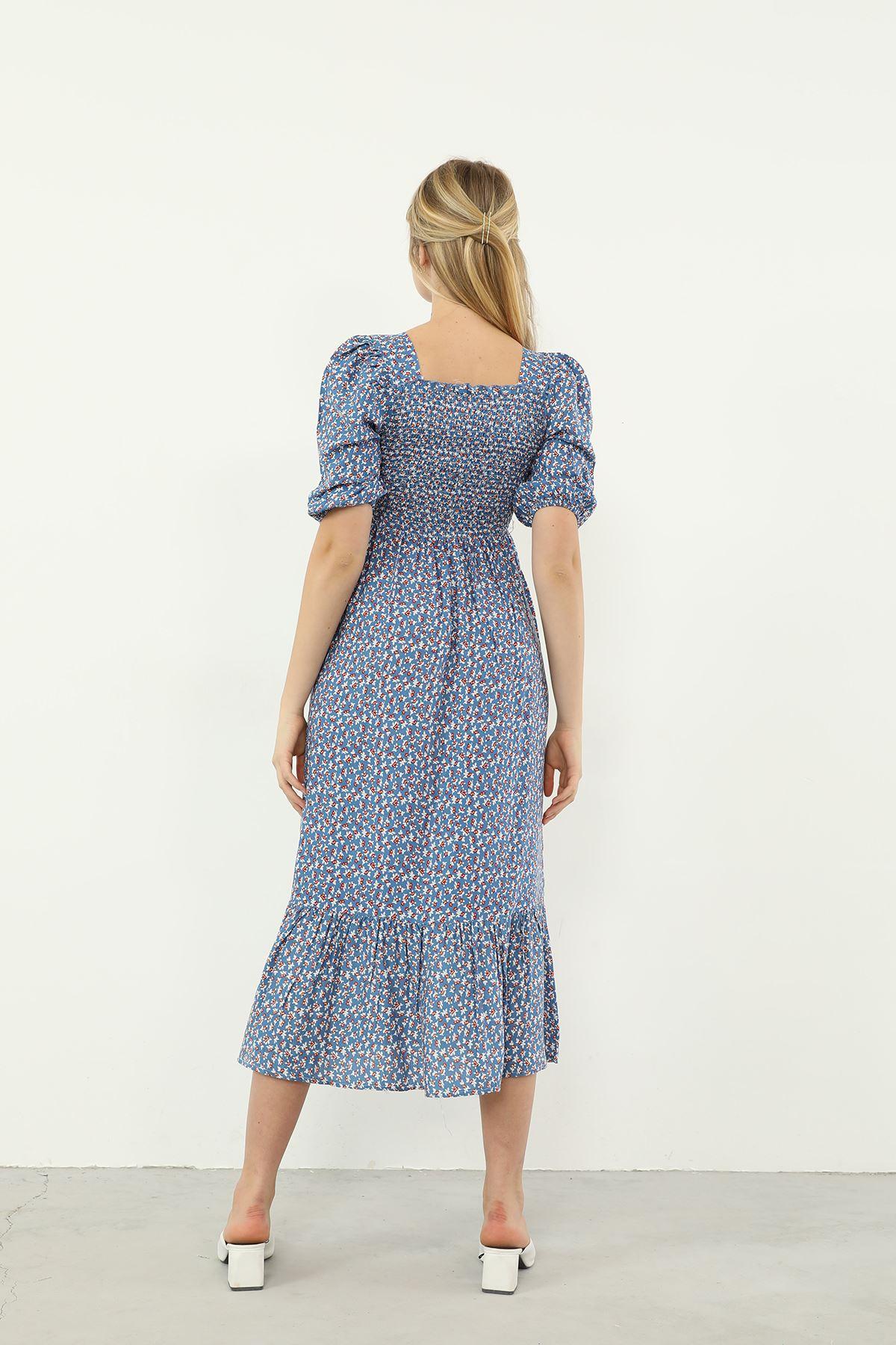 Gipeli Elbise-Mavi