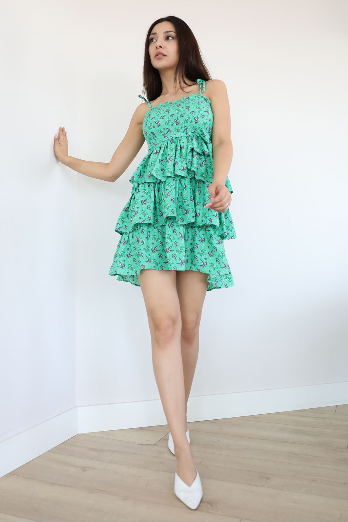 Kat Kat Elbise-Yeşil
