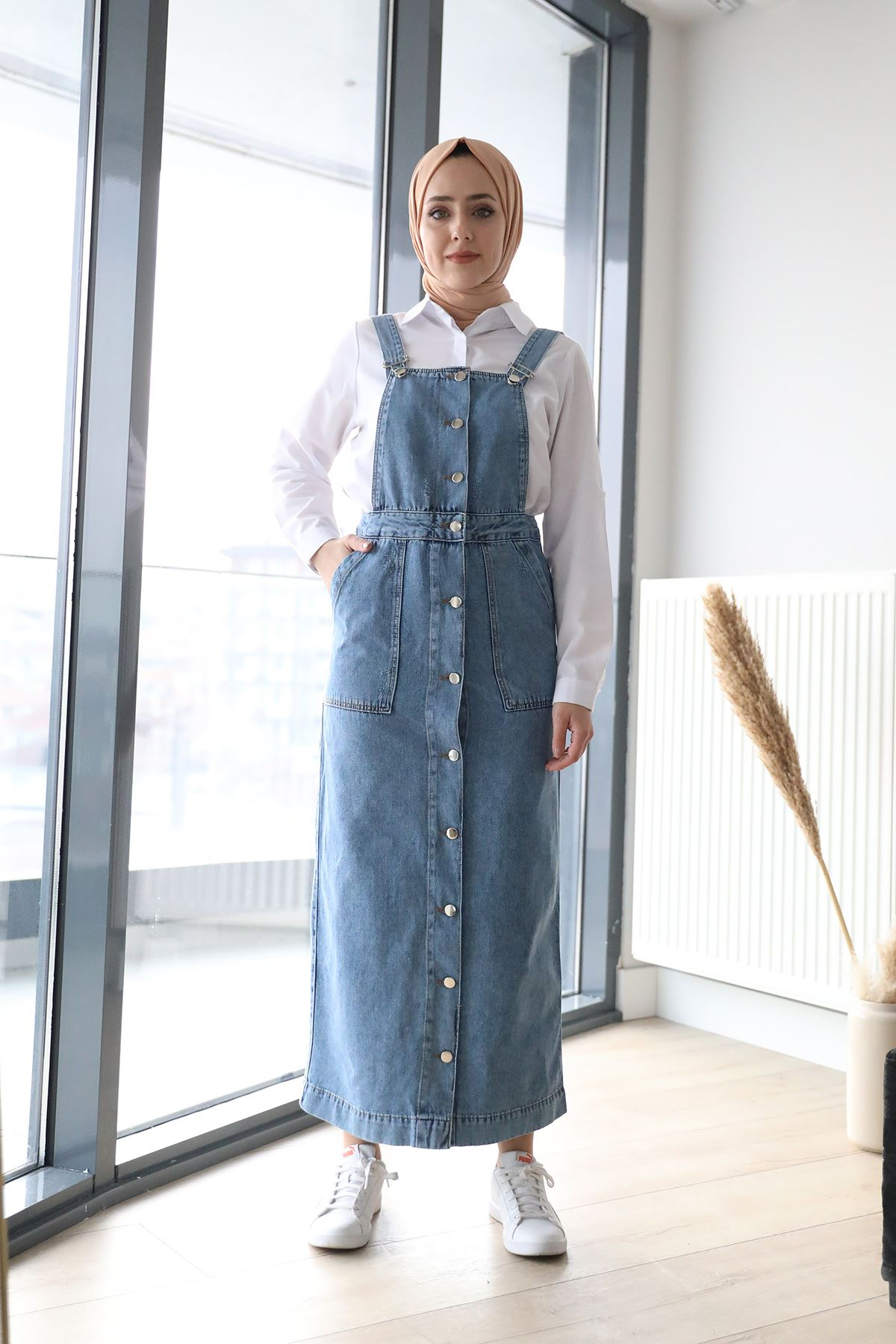 Kot Elbise-Mavi