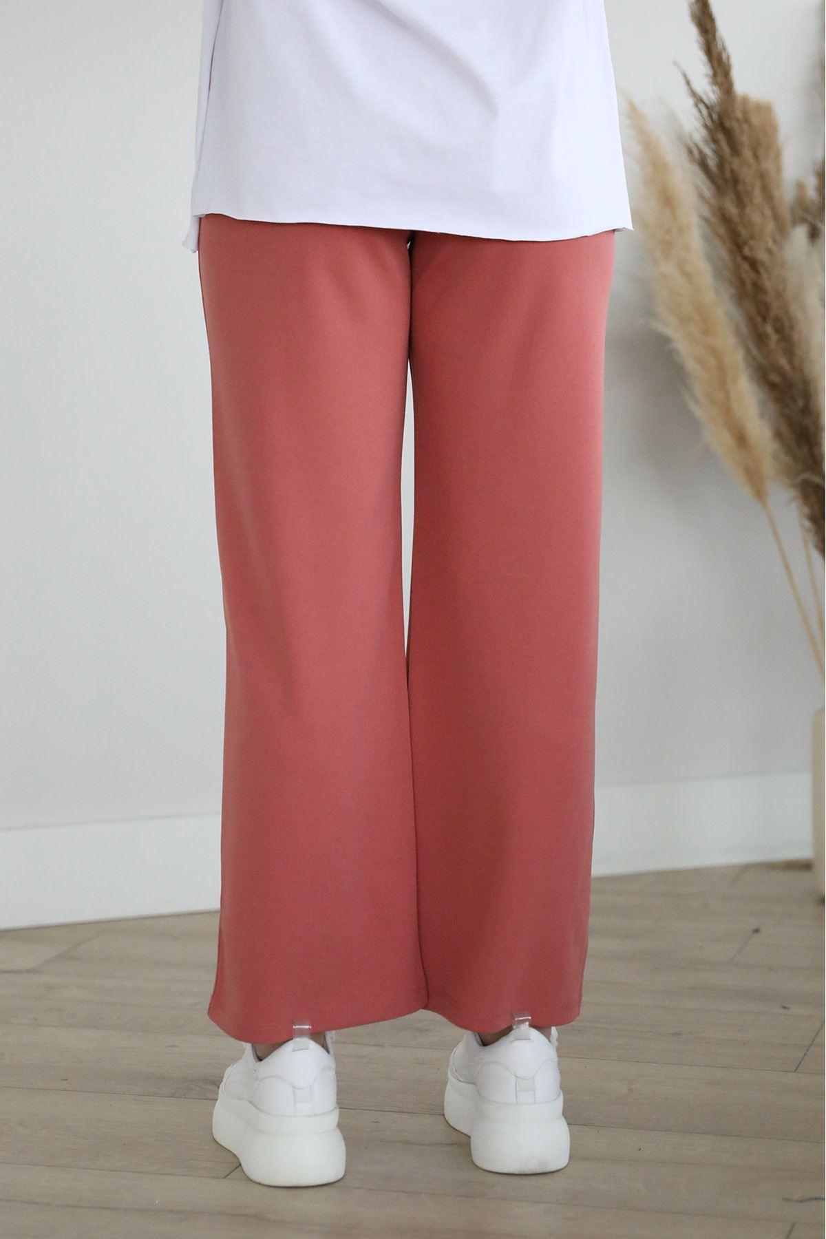 Cep Detaylı Pantolon-Gül Kurusu