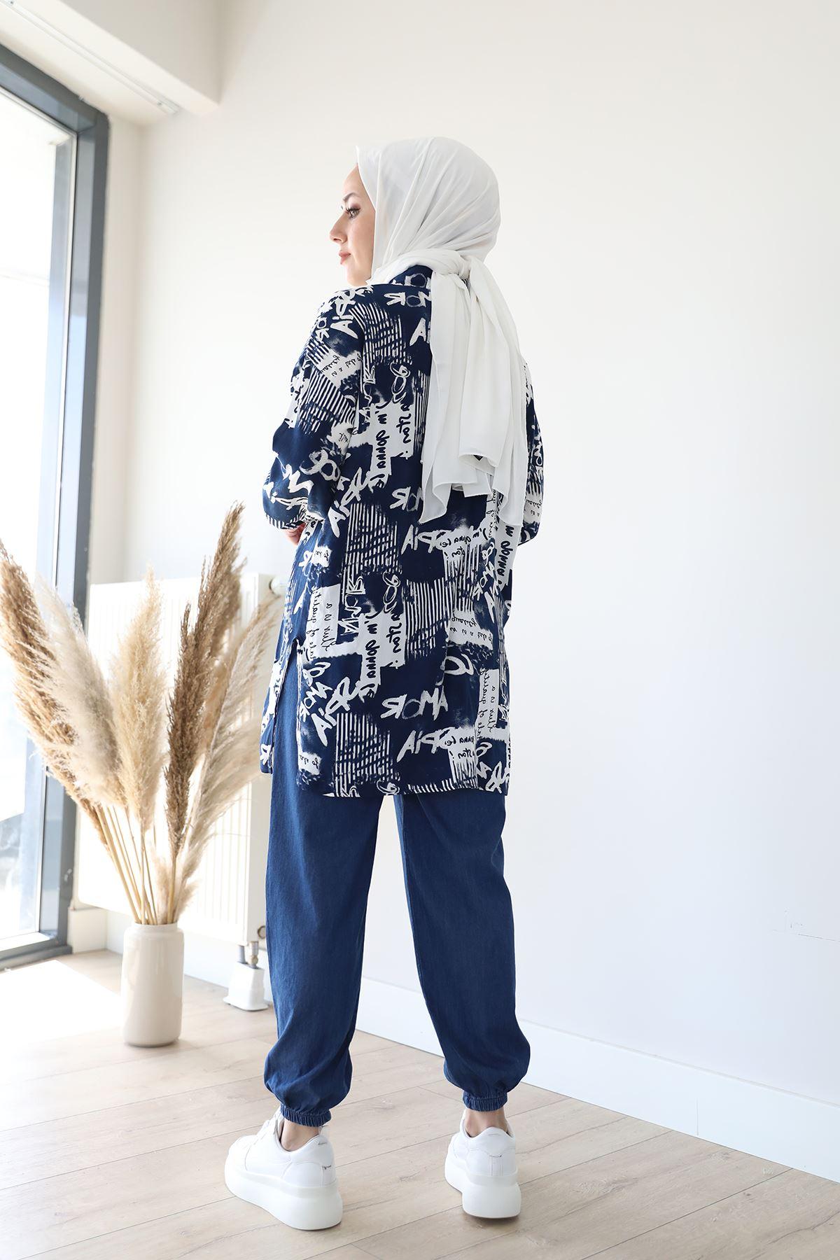 Jogger Pantolon-Koyu Mavi