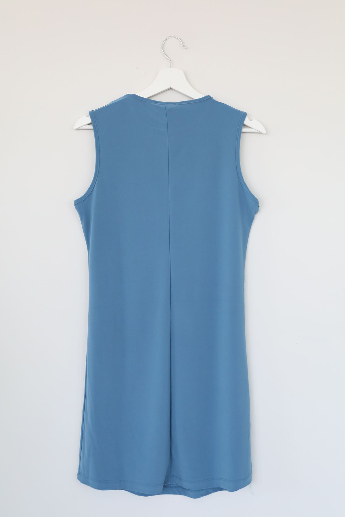 Sıfır Kol Kısa Sendy Tunik-Buz Mavi