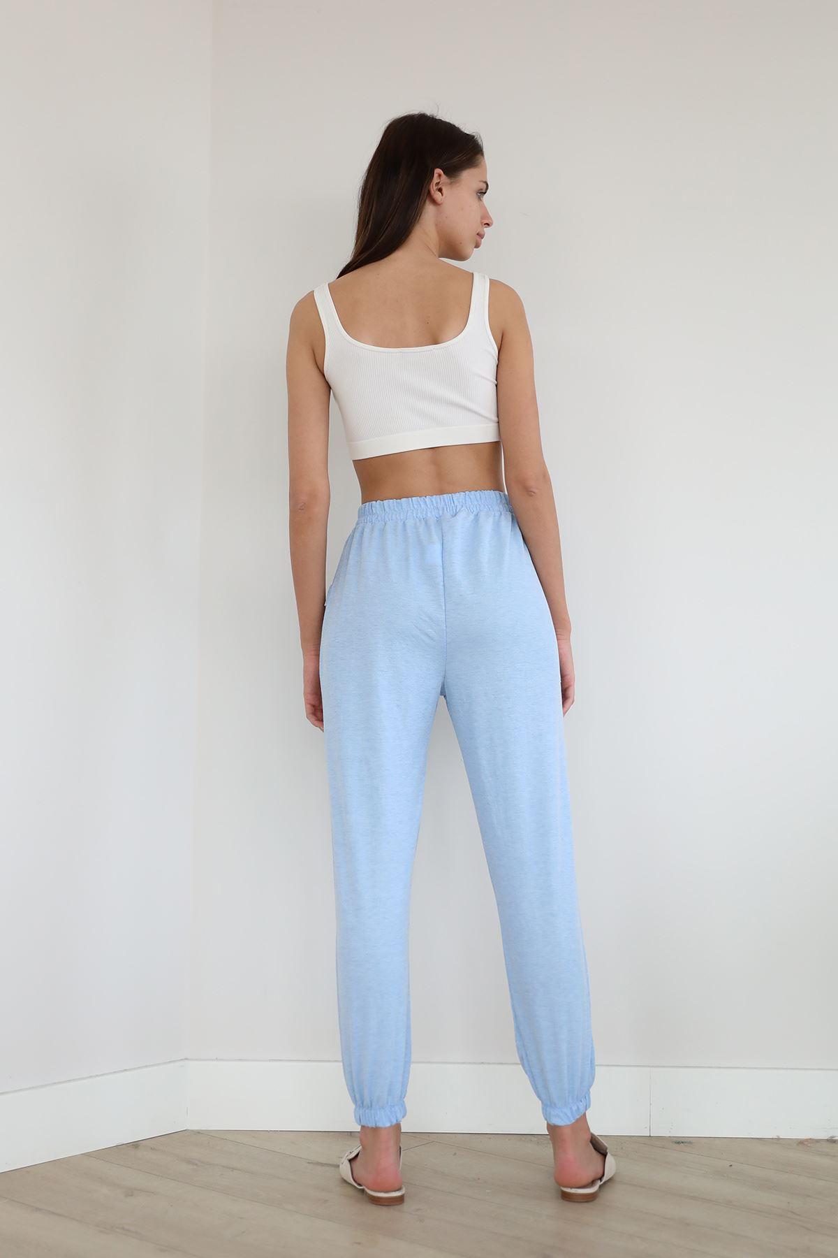 Beli Lastikli Salaş Pantolon-Bebemavi