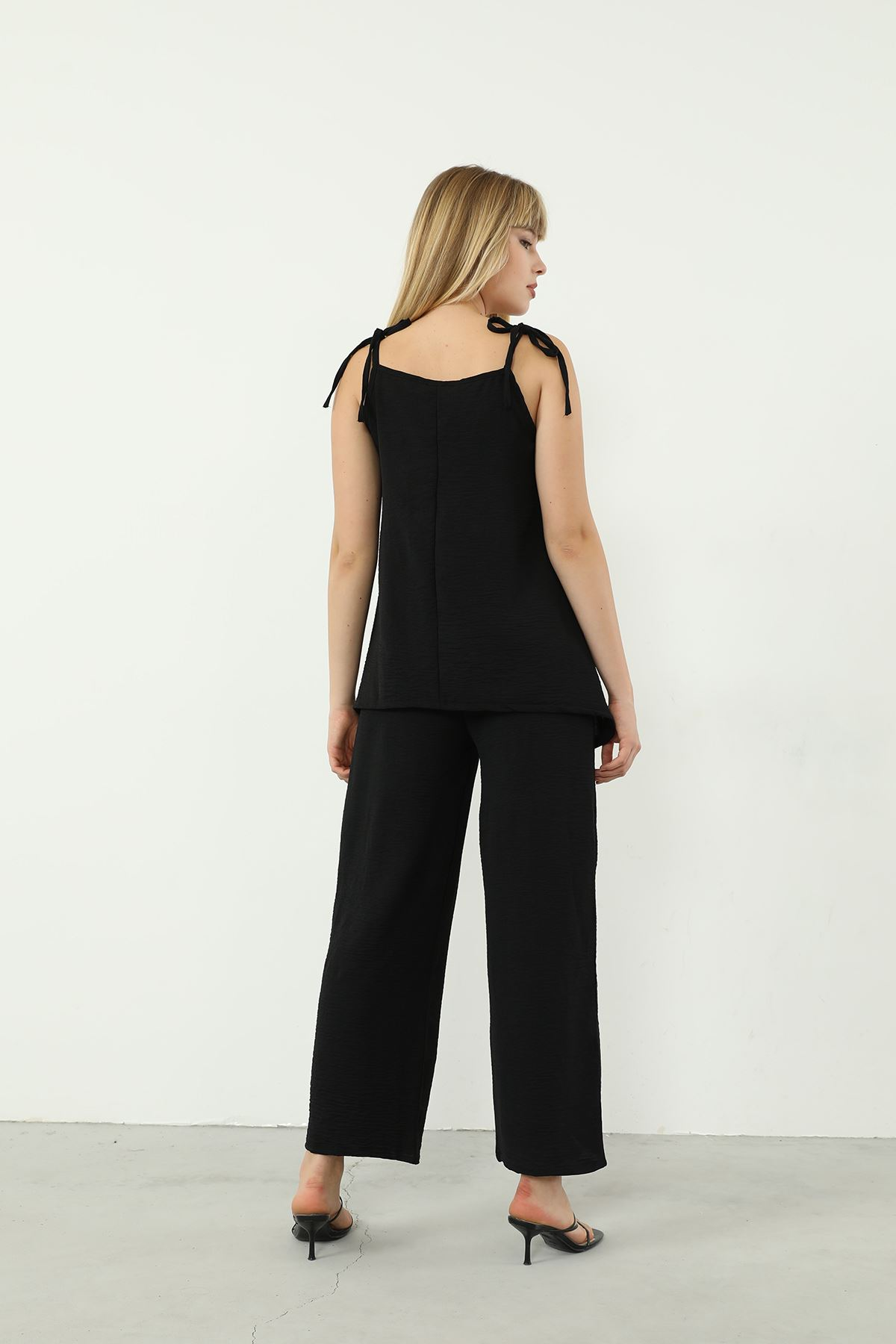 İkili Pantolon Takım-Siyah