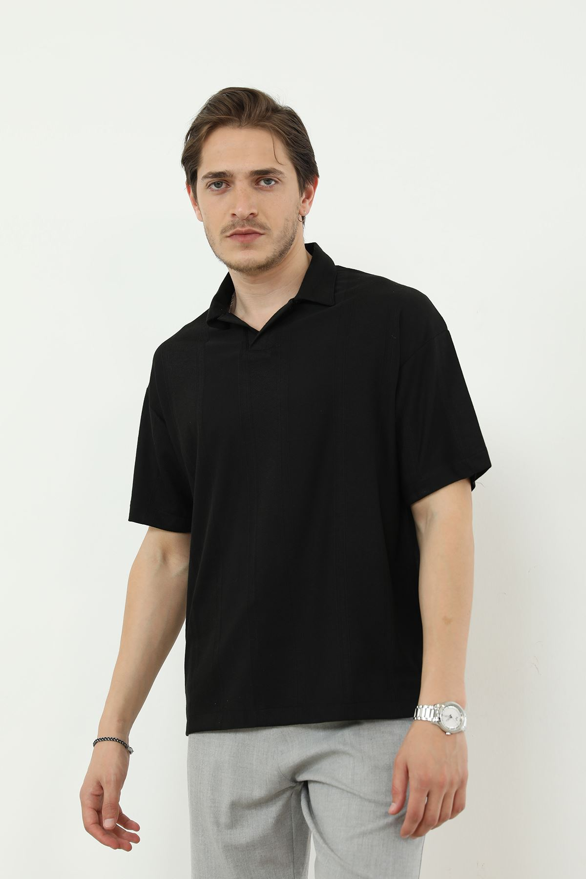 Kısa Kol T-shirt-Siyah