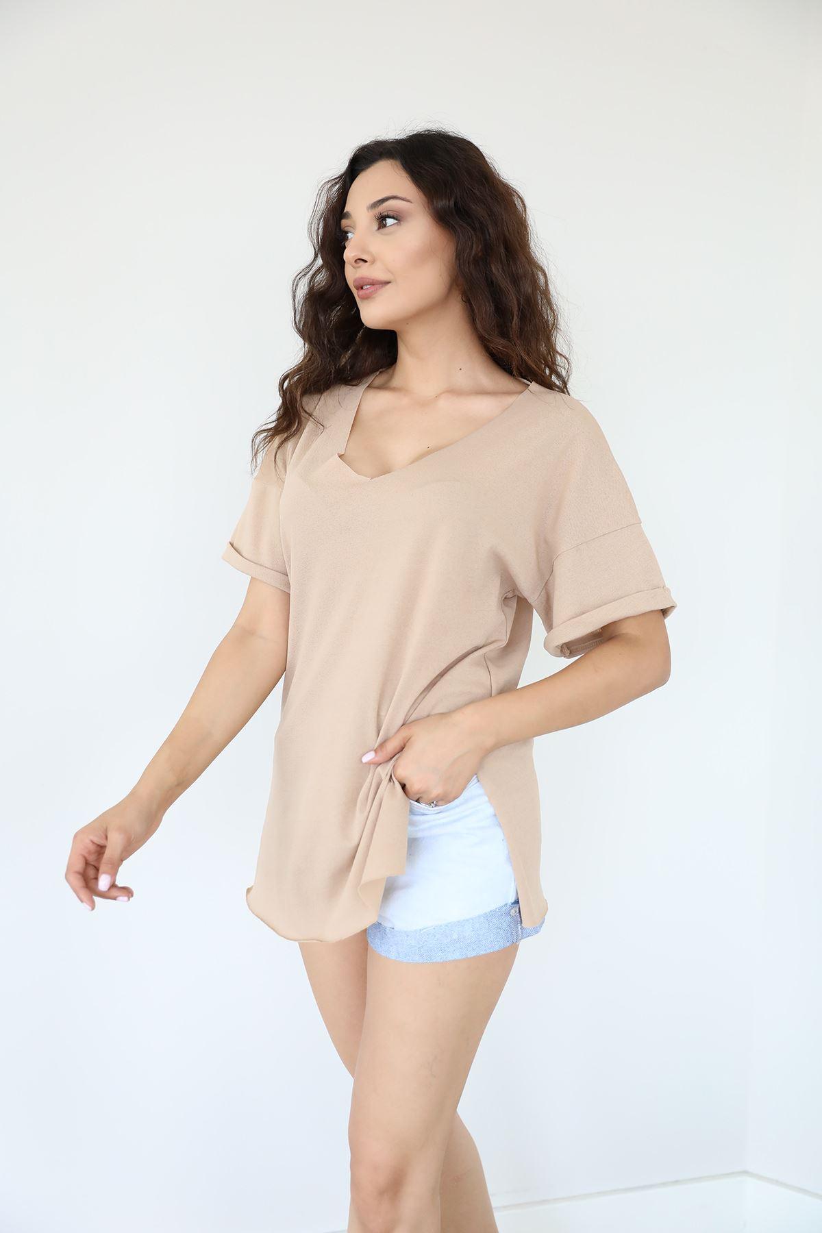 Basic T-shirt-Bej