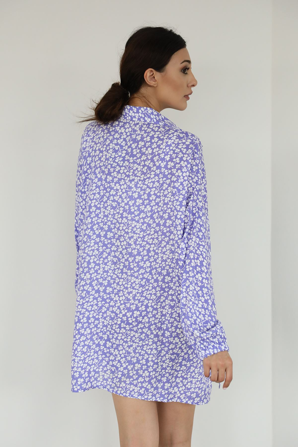 Yonca Desen Gömlek-Lila