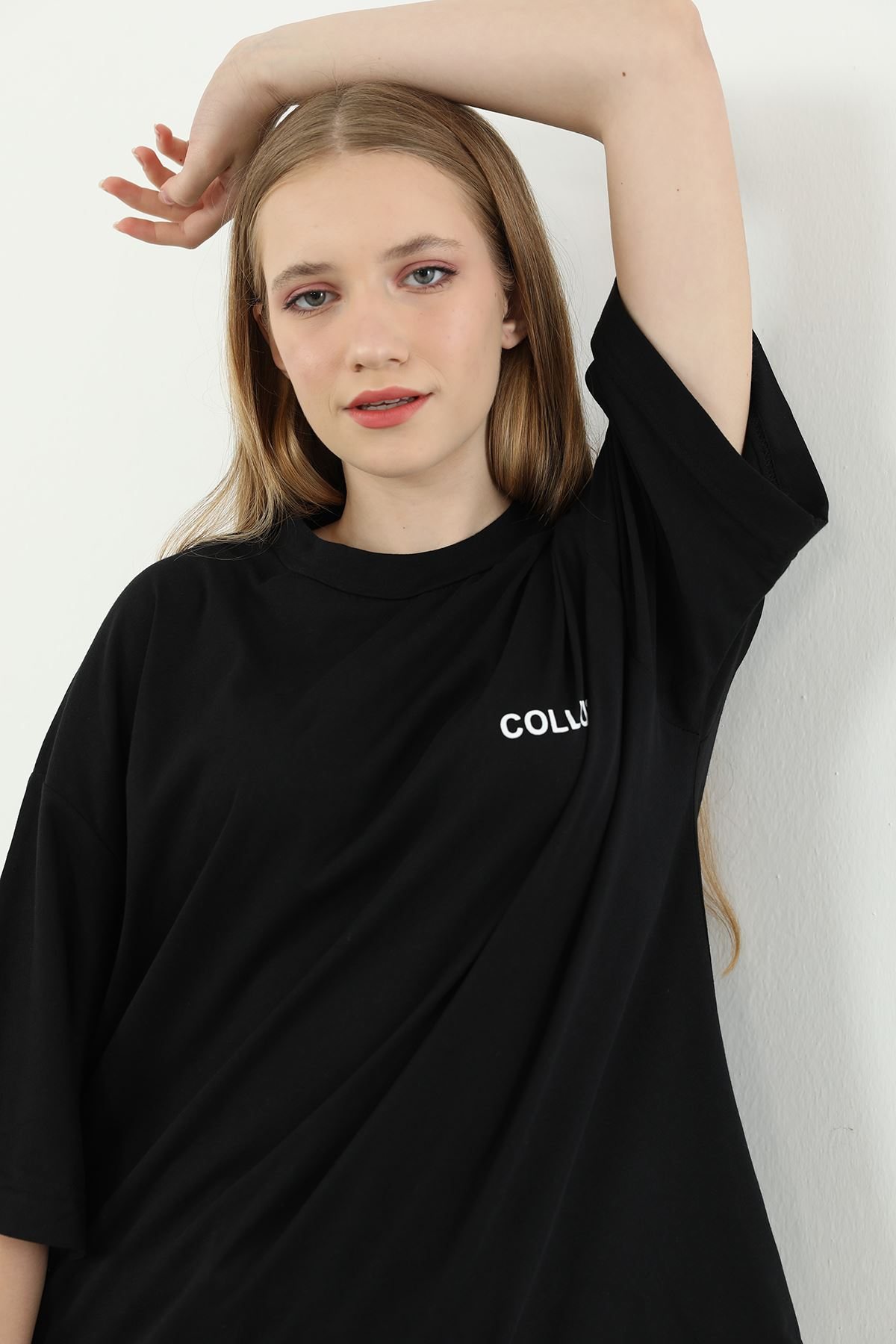 Collusıon Baskılı T-shirt-Siyah