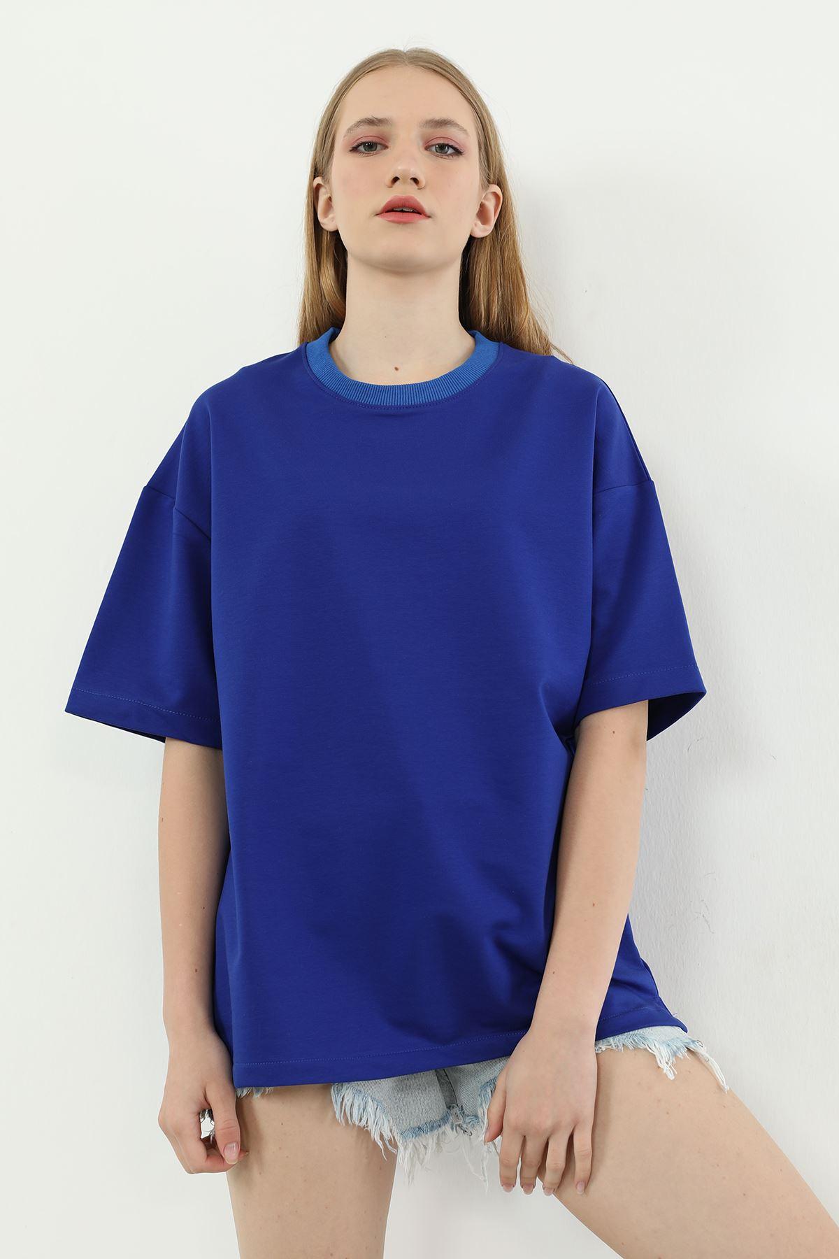 Basıc Kadın T-shirt-Saks