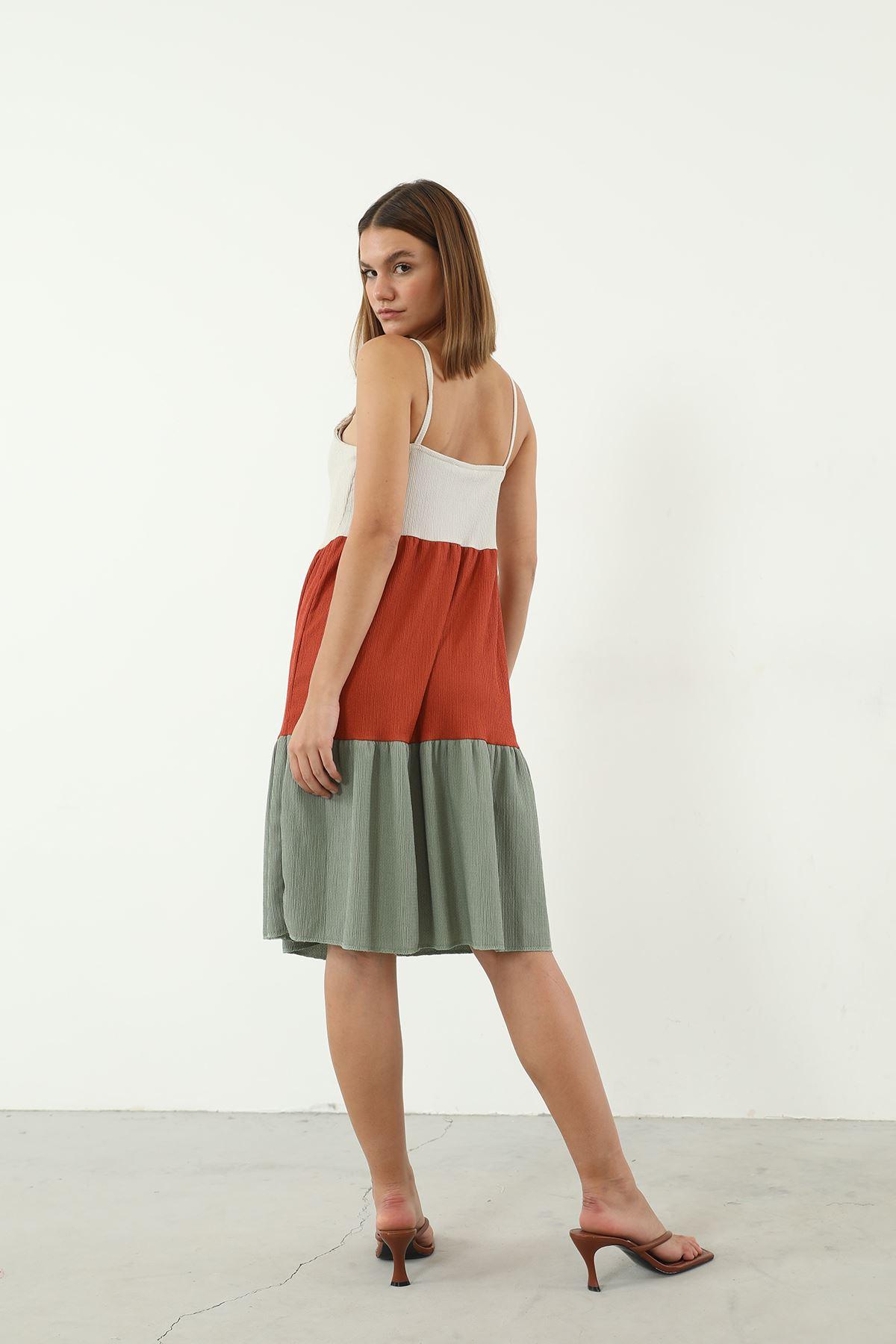 Askılı Elbise-Kiremit