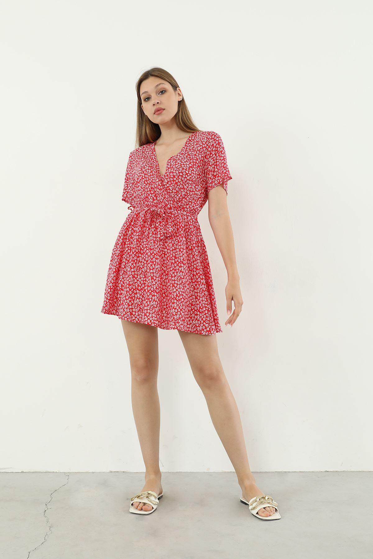 Şortlu Elbise-Kırmızı