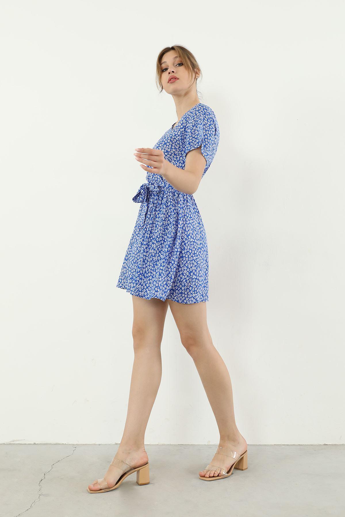 Şortlu Elbise-Mavi