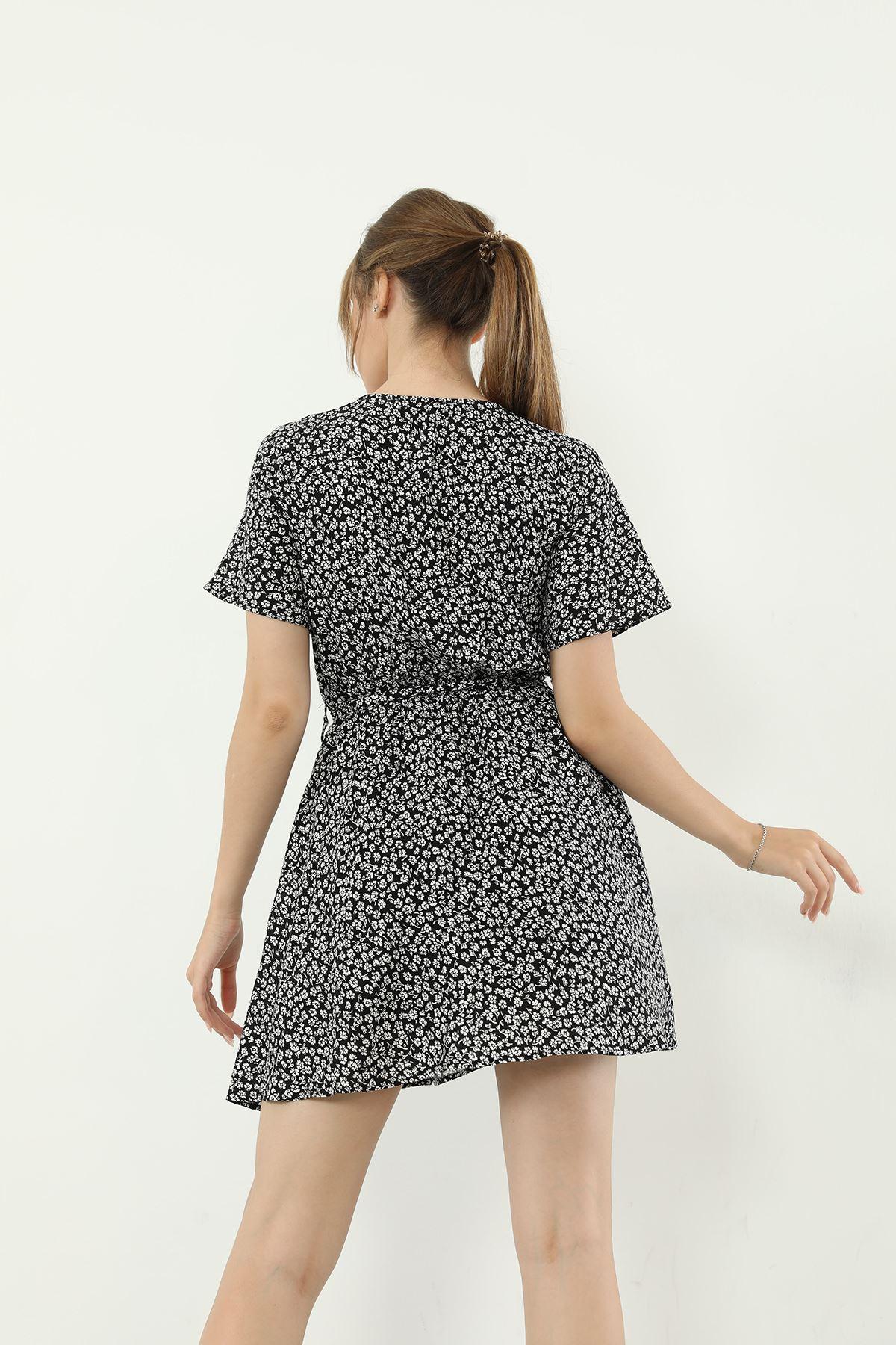 Şortlu Elbise-Siyah