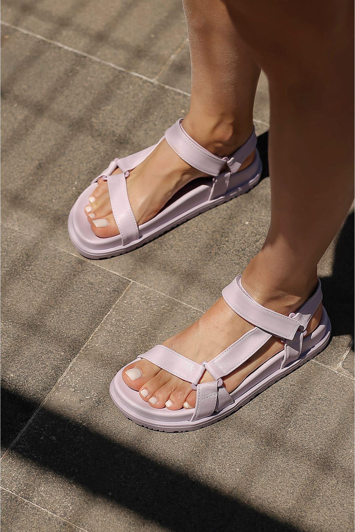 Bantlı Sandalet-Lila