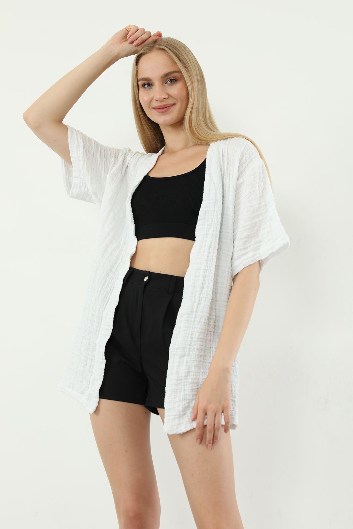 Salaş Kimono-Beyaz
