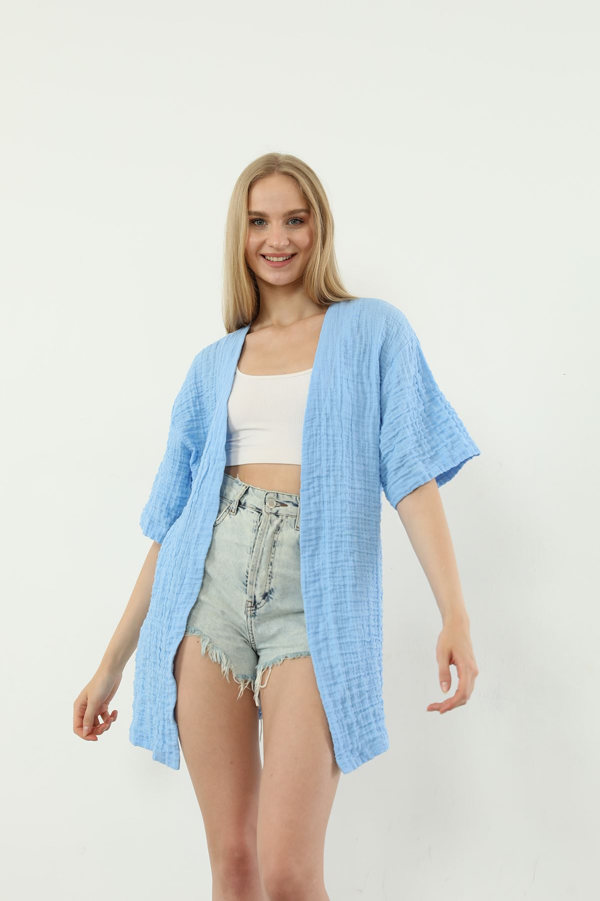 Salaş Kimono-Mavi