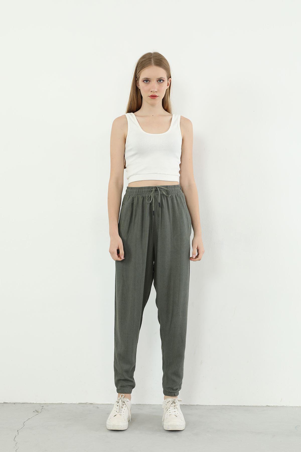 Jogger Kadın Pantolon-Haki